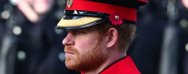 Prinz Harry im November 2016 bei einer Gedenkveranstaltung für gefallene Soldaten in London