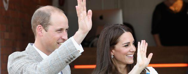 Prinz William und Herzogin Kate bei ihrem Luton-Besuch