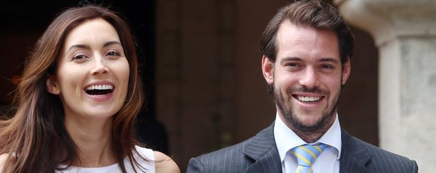 Prinzessin Claire und Prinz Felix bei der Taufe von Prinzessin Amalia von Luxemburg
