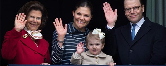 Prinzessin Estelle von Schweden, Prinzessin Victoria von Schweden, Prinz Daniel von Schweden und Kön