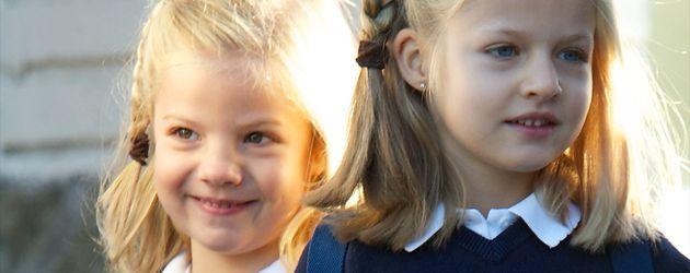 Die Prinzessinnen Sofia und Leonor von Spanien
