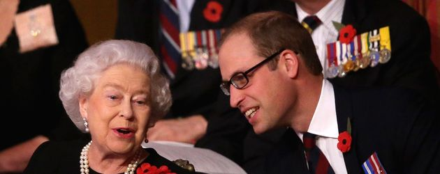 Queen Elizabeth II. und Prinz William