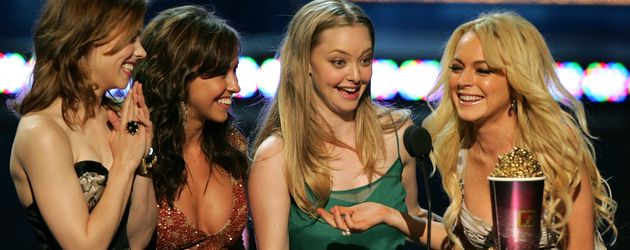 Rachel McAdams, Lacey Chabert, Amanda Seyfried, and Lindsay Lohan bei den MTV Movie Awards 2005