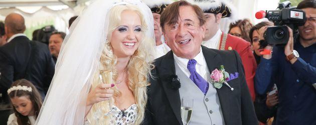 Richard und Cathy Lugner bei ihrer Hochzeit im September 2014