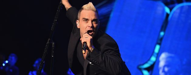 Sänger Robbie Williams bei einem Auftritt in Monaco 2015