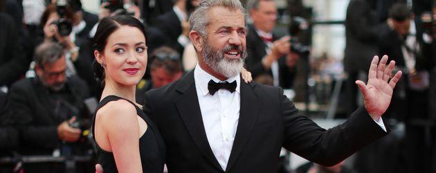Rosalind Ross und Mel Gibson bei den Filmfestspielen in Cannes
