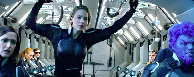 Jennifer Lawrence, Nicholas Hoult und Rose Byrne