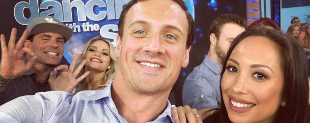 "Ryan Lochte mit seiner Tanzpartnerin Cherly Burke bei ""Dancing with the Stars"""