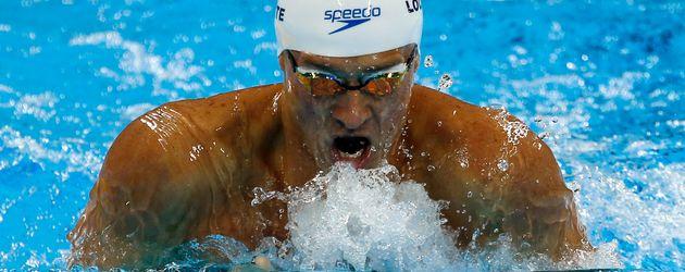 Ryan Lochte beim 200m Lagen Halbinale der Herren in Rio de Janeiro