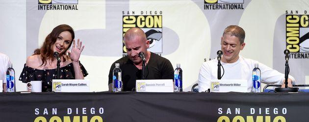 Sarah Wayne Callies, Dominic Purcell und Wentworth Miller auf der Comic-Con in San Diego