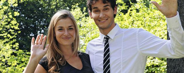 Daniel und Ines verlassen als Theresa und Moritz die Telenovela