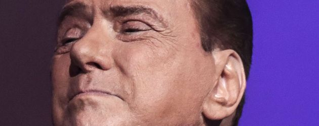 "Silvio Berlusconi in der TV-Show ""Virus"" in Rom"