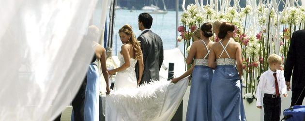 Simone Ballack heiratet Michael Ballack im Juli 2008