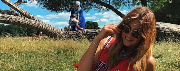 Stefanie Giesinger im Richmond Park in London