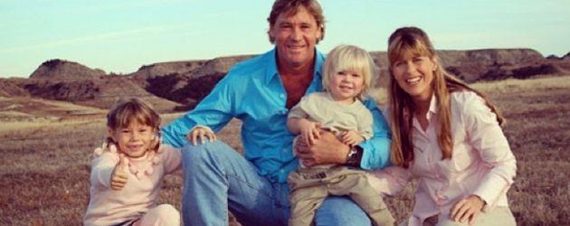 Steve Irwin mit seiner Familie