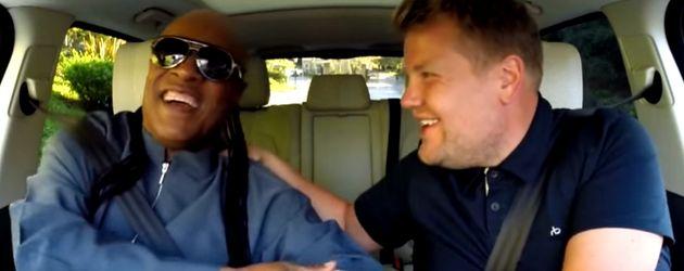 James Corden und Stevie Wonder
