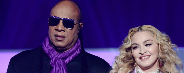 Madonna und Stevie Wonder