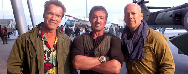 Arnold Schwarzenegger, Bruce Willis und Sylvester Stallone