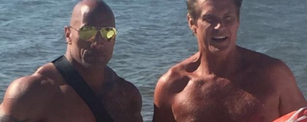 "Dwayne ""The Rock"" Johnson und David Hasselhoff"