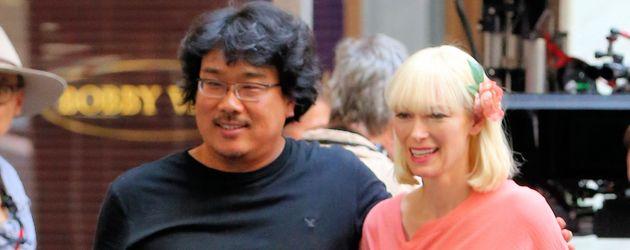 Oscar-Preisträgerin Tilda Swinton mit Regisseur Joon-ho Bong