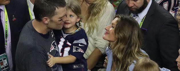 Tom Brady und Giselle Bündchen während des Super Bowl 2017
