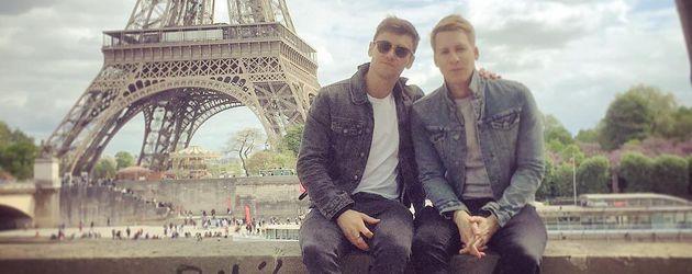 Tom Daley und Dustin Lance Black in Paris