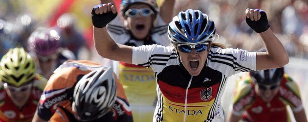 Trixi Worrack bei der Rad-WM in Madrid 2005