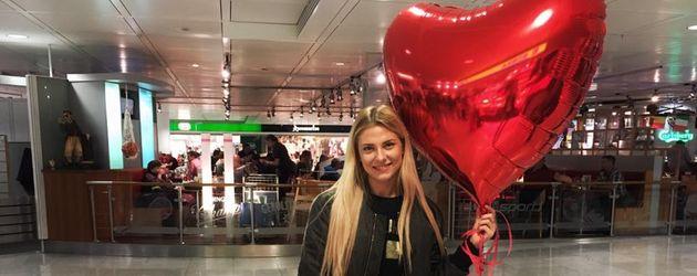 Valentina Pahde am Münchner Flughafen