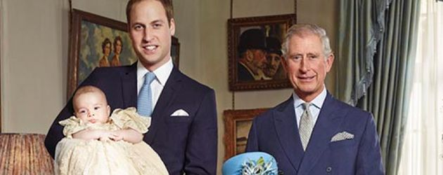 Queen Elizabeth II., Prinz William und Prinz George