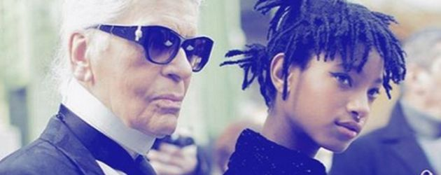 Karl Lagerfeld und Willow Smith